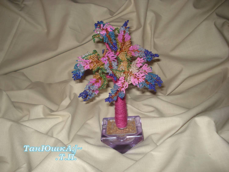 Поделка изделие Бисероплетение Деревья и Цветы Бисер фото 8.